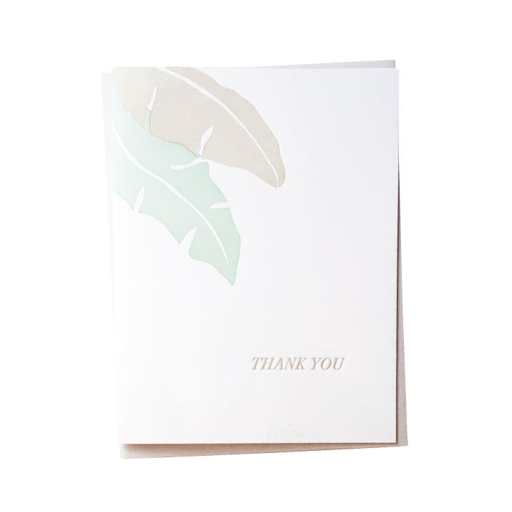 Banana Leaf Thank You Card