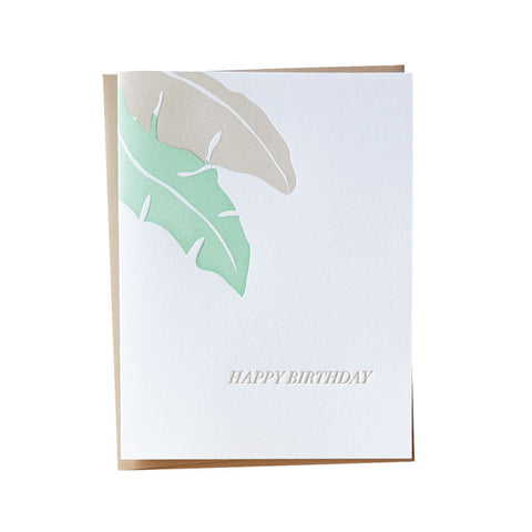 Banana Leaf Birthday Card