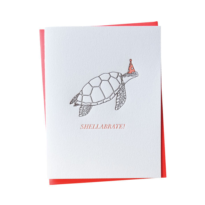 Shellabrate Turtle Birthday Card