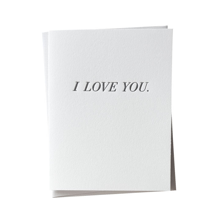 Simple I Love You Letterpress Card