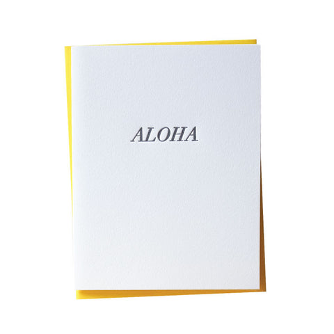 Simple Aloha Letterpress Card