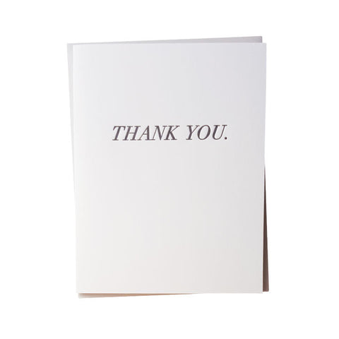 Simple Thank You Letterpress Card