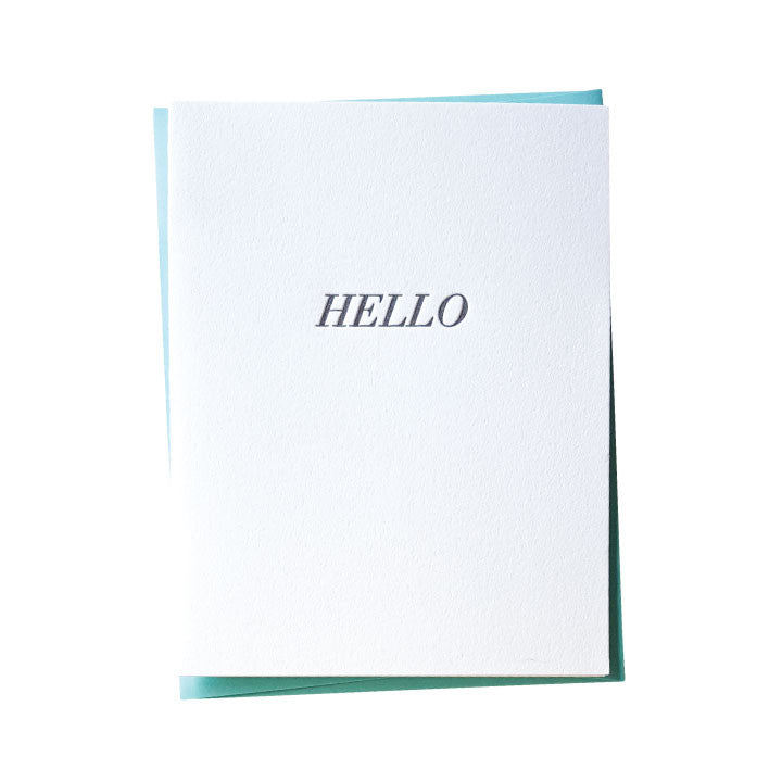 Simple Hello Letterpress Card