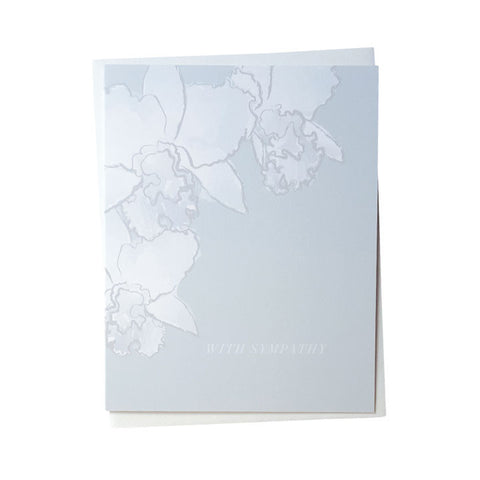 With Sympathy Orchid Card