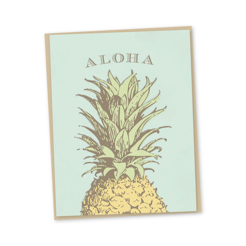Vintage Pineapple Aloha Note Card