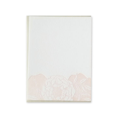 Floral Blush Letterpress Note Cards - Wholesale (Min. 6 Units) - 160s