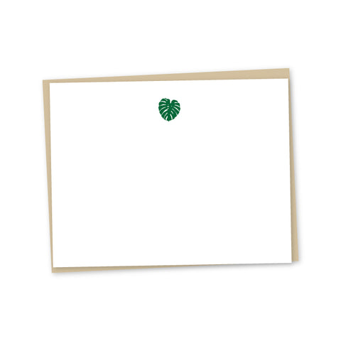 Little Monstera Letterpress Note Cards - set of 6