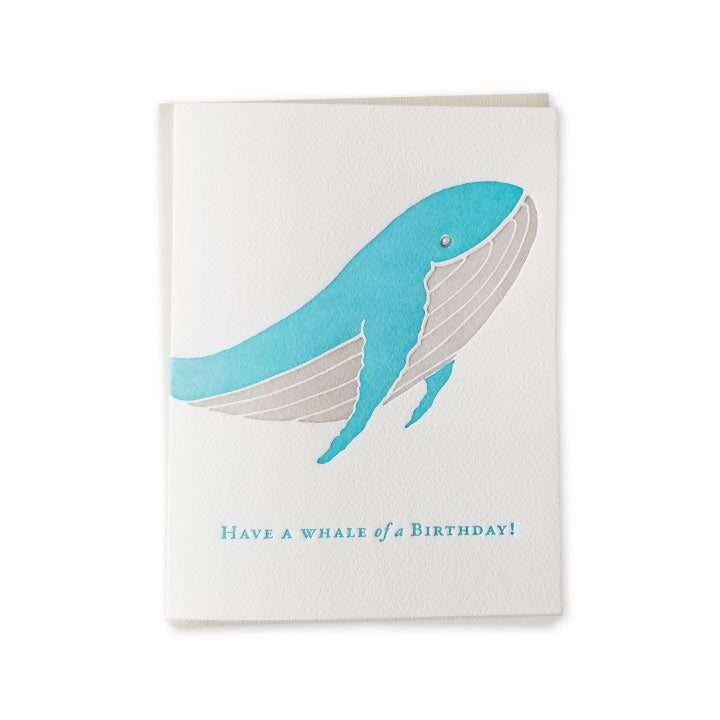 Whale of Birthday Letterpress Card