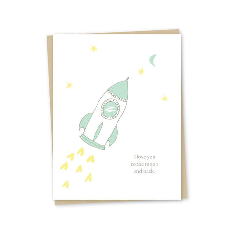 To the Moon & Back Letterpress Card