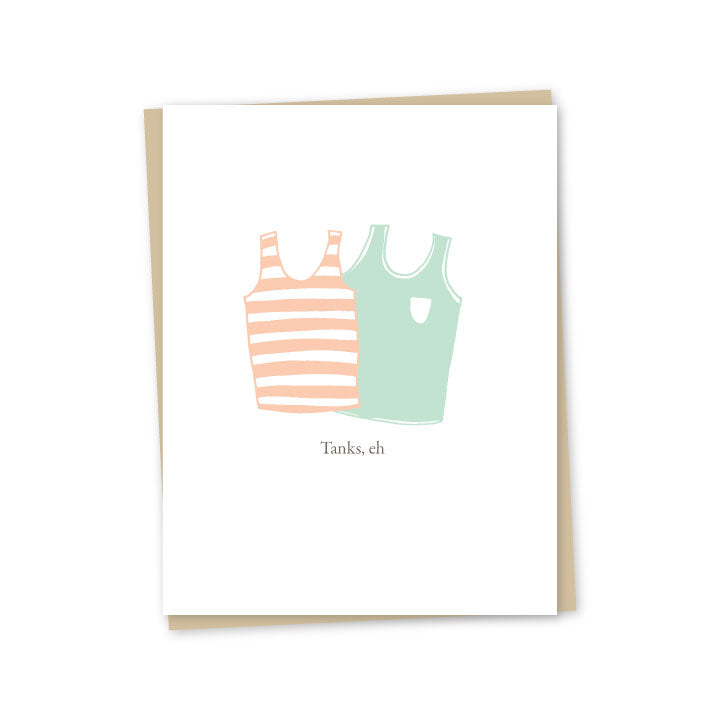 Tanks Letterpress Card