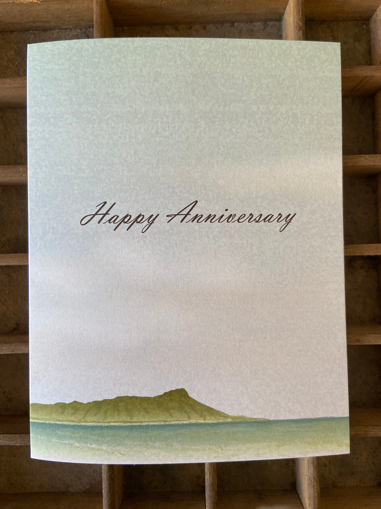 Diamond Head Happy Anniversary Folded Card