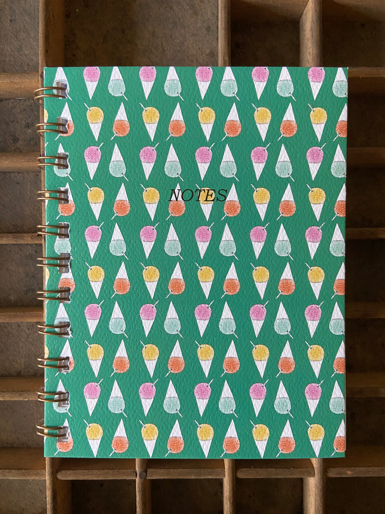Shave Ice Spiral Bound Notebook