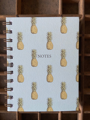 Vintage Pineapple Spiral Bound Notebook