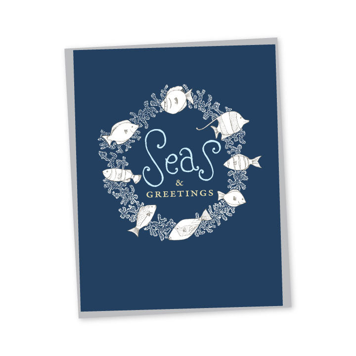 Seas & Greetings Reef Fish Folded Note Cards - Set of 6