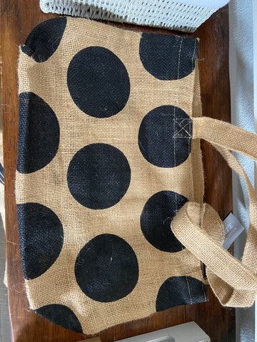 Dot Zipper bag with pocket