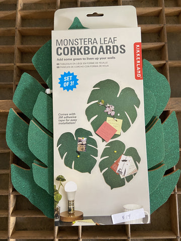 Monstera leaf Corkboard 3-pack