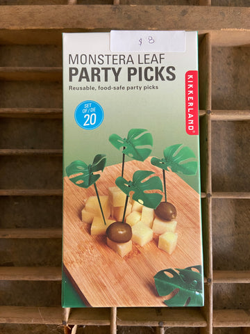 Monstera reusable food picks