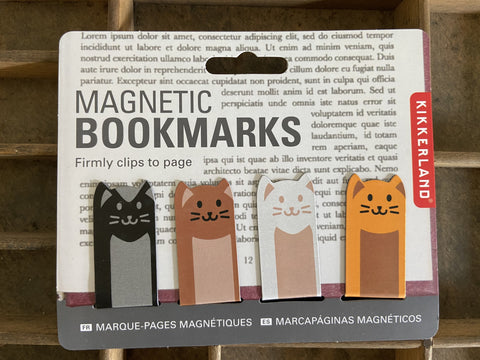 Cat Magnetic bookmarks - set of 4