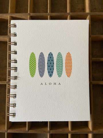Aloha Surf Spiral Bound Notebook
