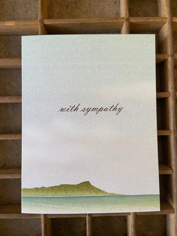 Diamond Head Sympathy Folded Card