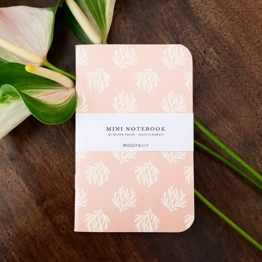 Pink Seaweed Mini Notebook