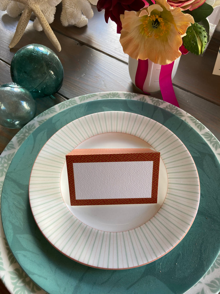 Copper pattern Place Cards