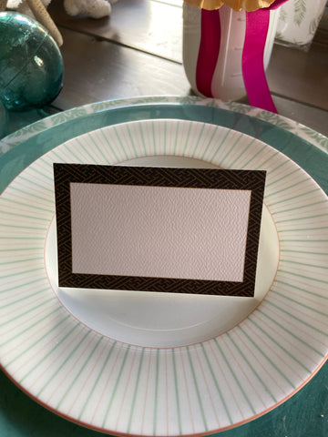 Black pattern Place Cards
