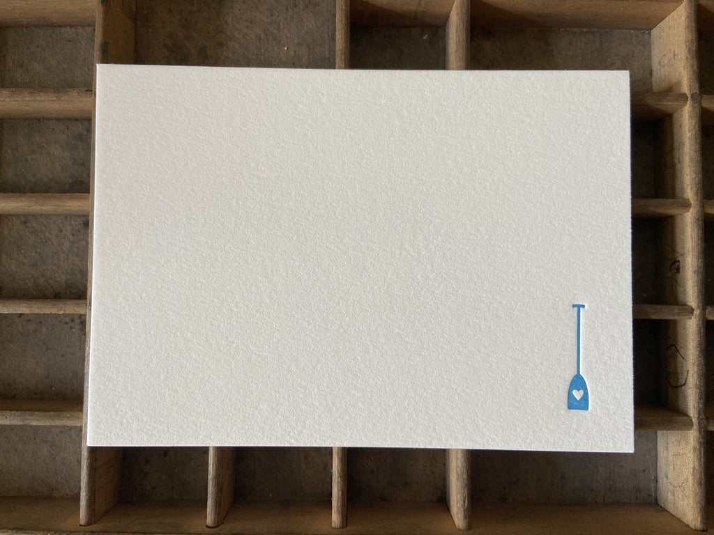 Paddle Love Letterpress A2 Flat Note Cards - Set of 6