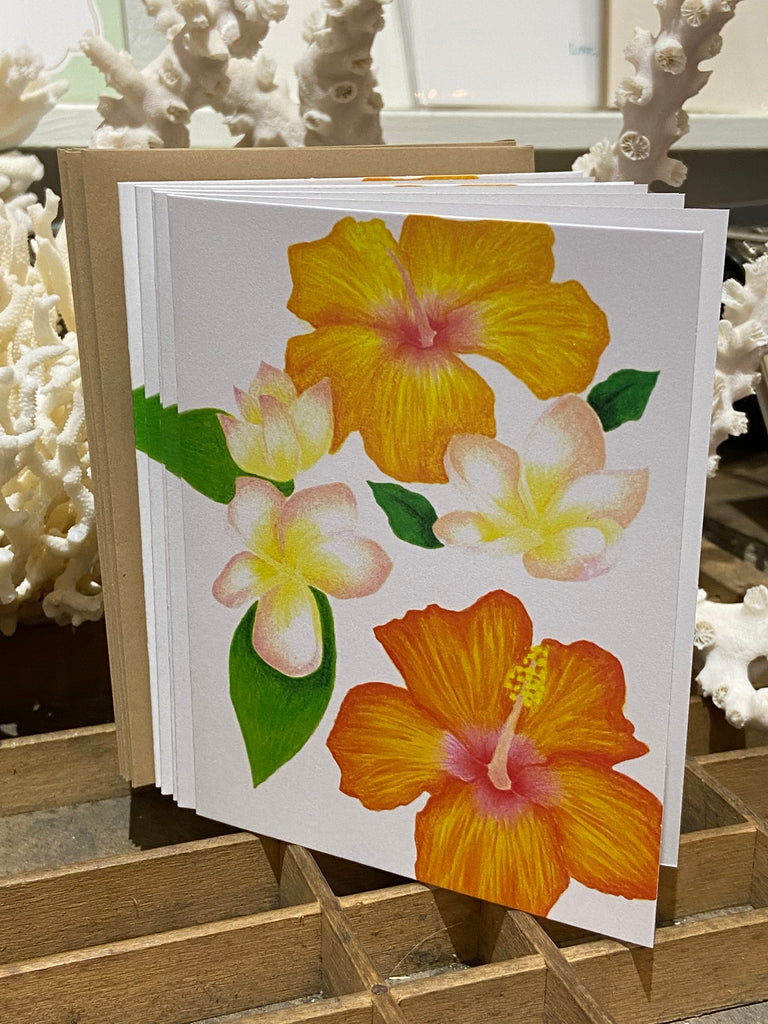 Sasha's Tropical Folded Cards 5 Pack