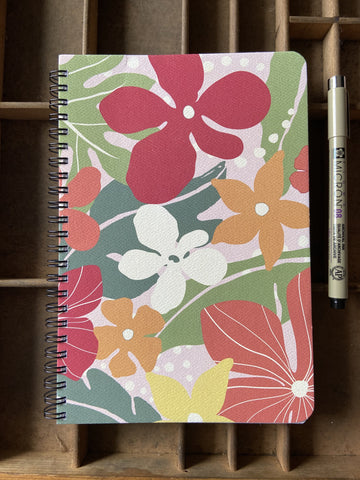 Garden Large Spiral Notebook