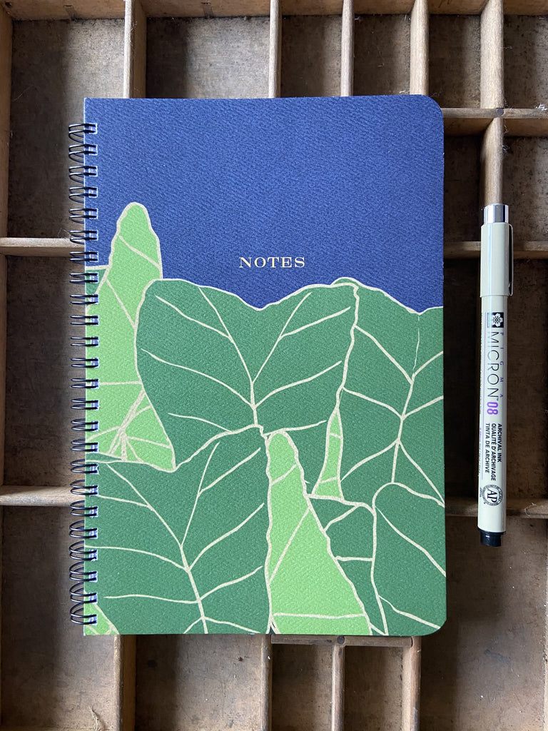 Blue Kalo Large Spiral Notebook