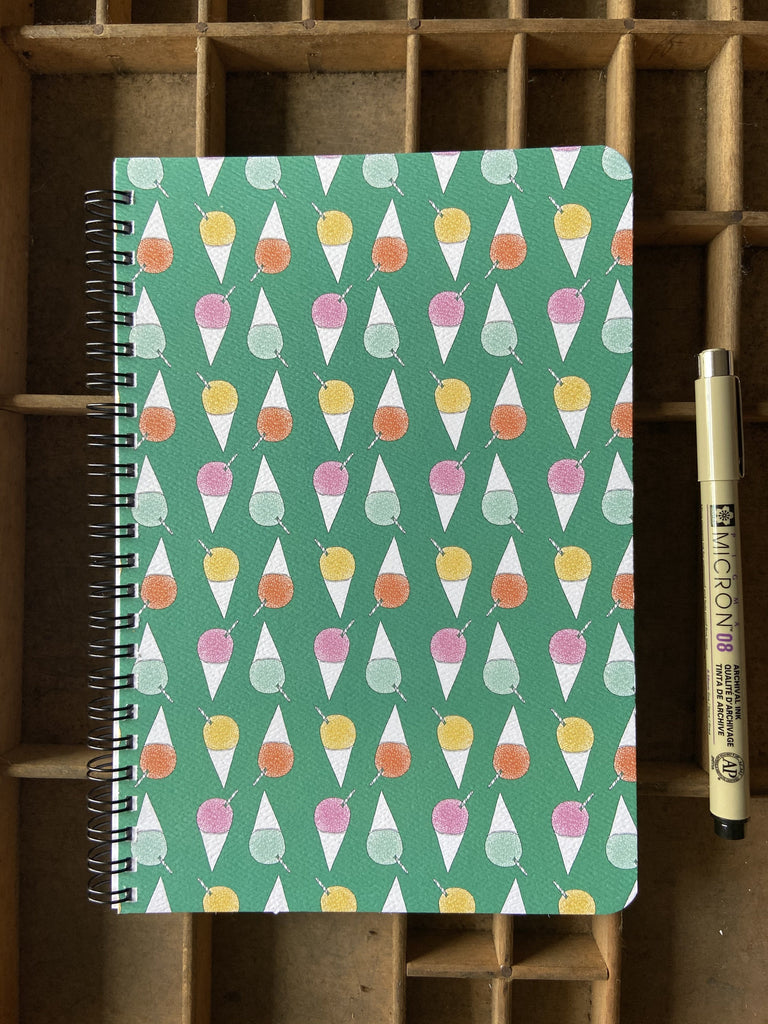 Shave Ice Large Spiral Notebook