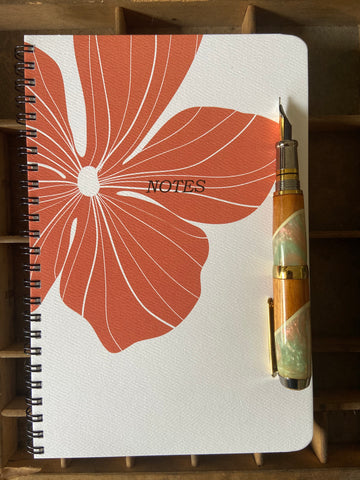 Hibiscus Large Spiral Notebook