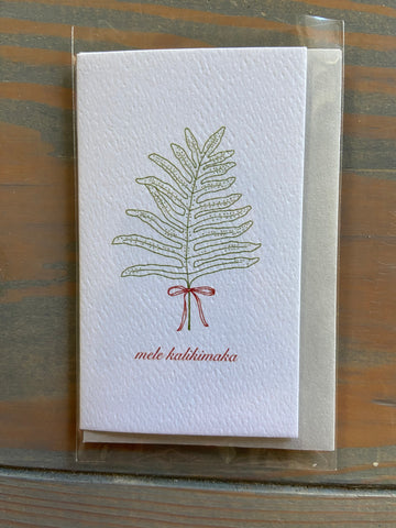 Mele Kalikimaka Mini Card