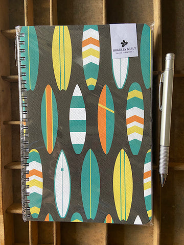 Bold Surf Large Spiral Notebook