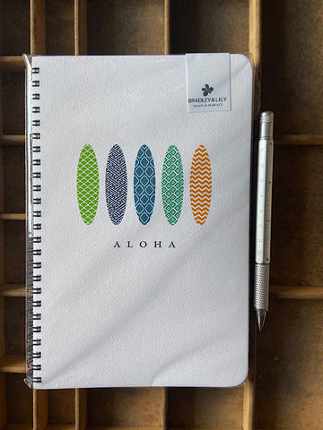 Aloha Surf Large Spiral Notebook