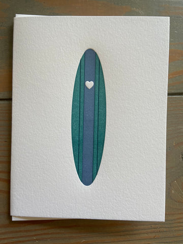 Heart 2-color Surf Folded Card