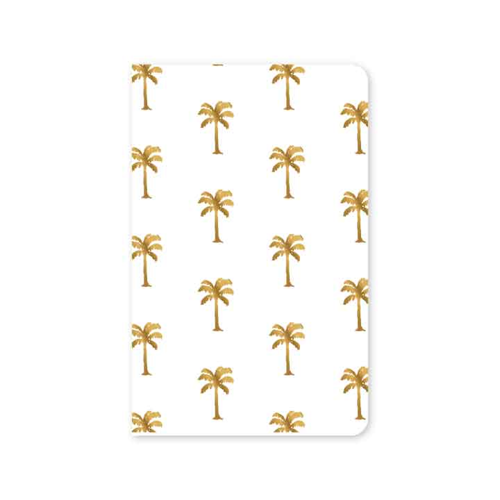 SALE! 30% off! now $3.15, normally $4.50 Golden Palms Mini Notebook