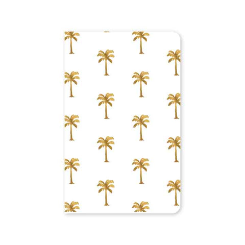 Golden Palms Mini Notebook