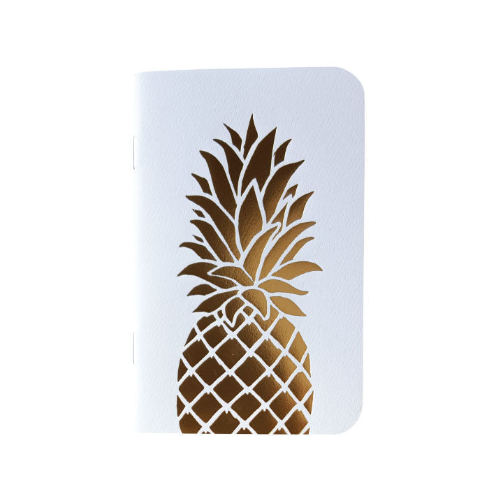 Gold Foil Pineapple Mini Notebook