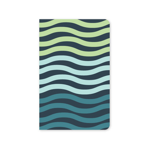 Modern Waves Mini Notebook