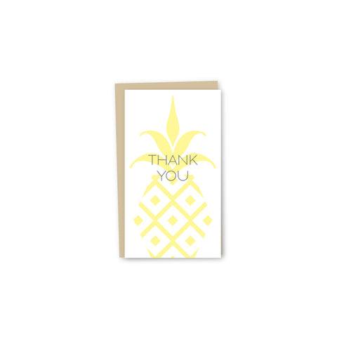 Pineapple Thank You Letterpress Mini-Card