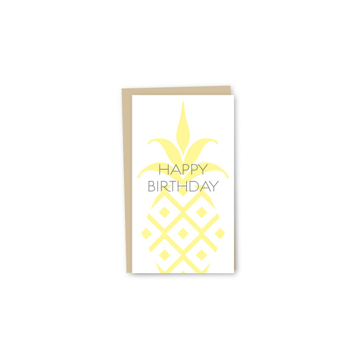 Pineapple Birthday Letterpress Mini-Card
