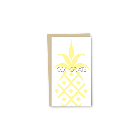 Pineapple Congrats Letterpress Mini-Card