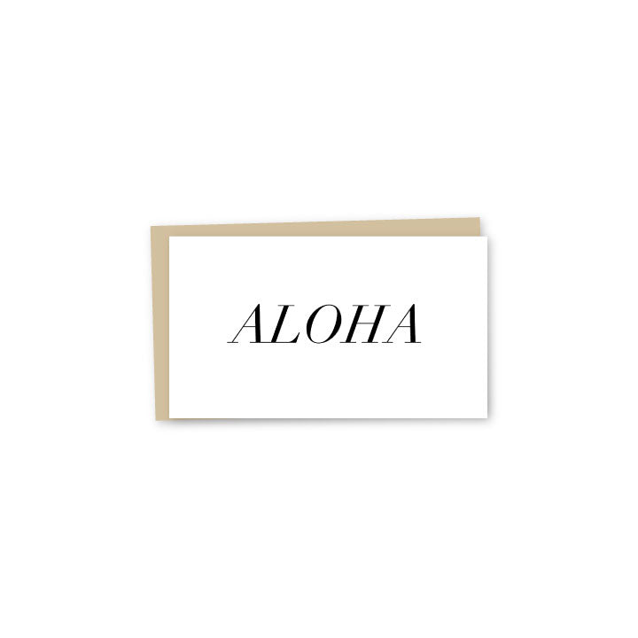 Block Aloha Letterpress Mini-Card
