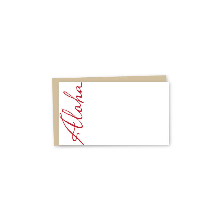 Script Aloha Letterpress Mini-Card