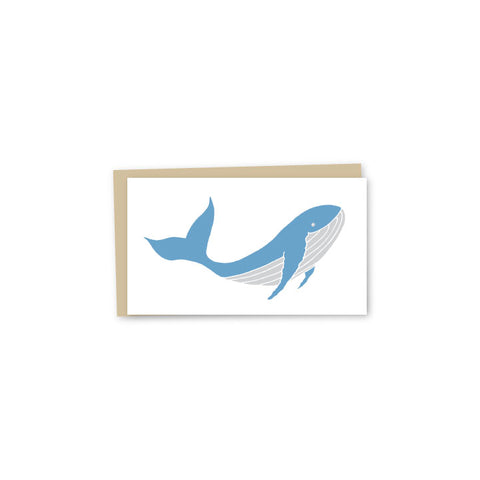 Whale Letterpress Mini-Card