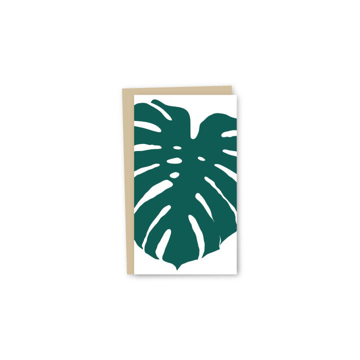 Monstera Letterpress Mini-Card