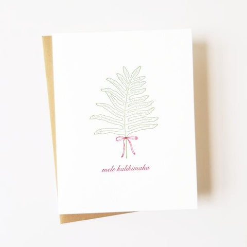 Lauae Mele Kalikimaka Letterpress Cards - Set of 6
