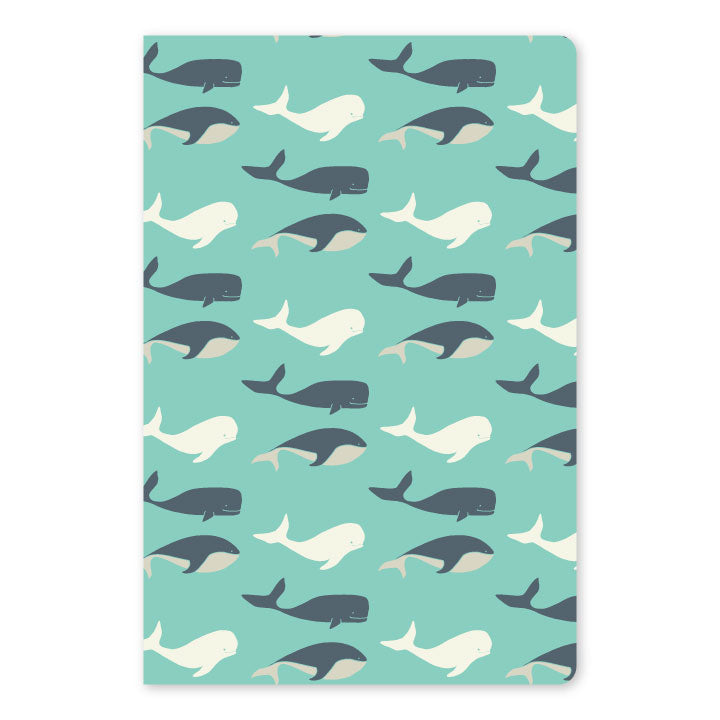 Whale Large Notebook